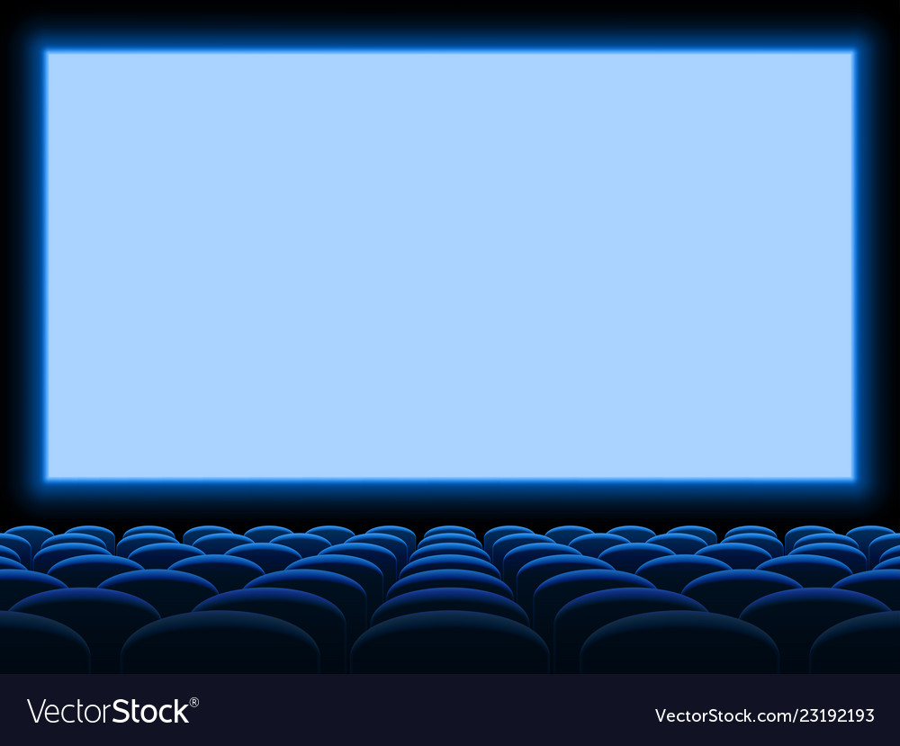 Movie Cinema Screen Background Template With Vector Image