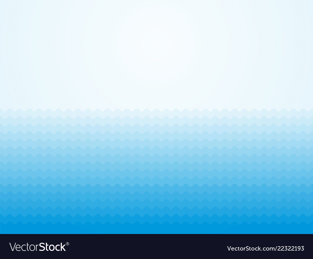 Ocean Waves Abstract Blue Background