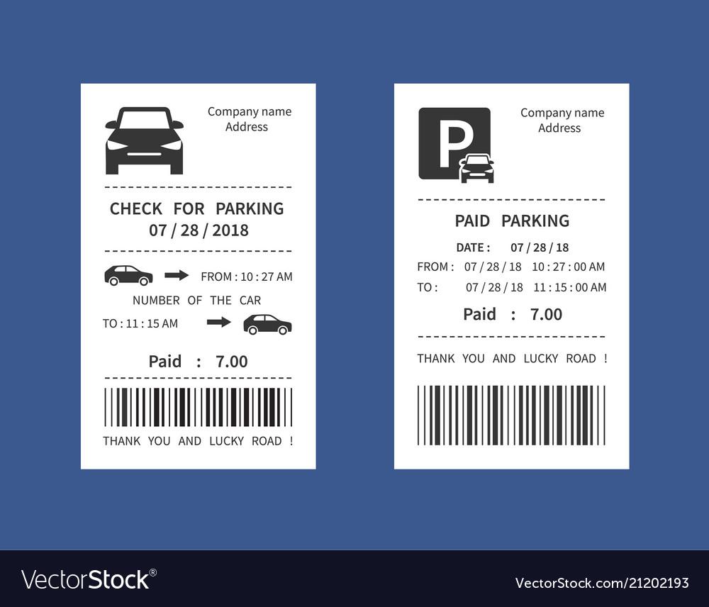 parking ticket money penalty receipt royalty free vector. Black Bedroom Furniture Sets. Home Design Ideas