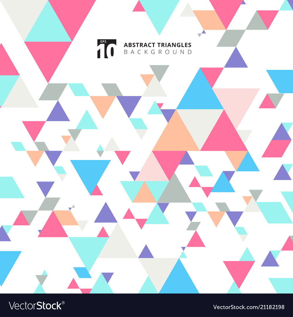 Abstract modern colorful triangles pattern