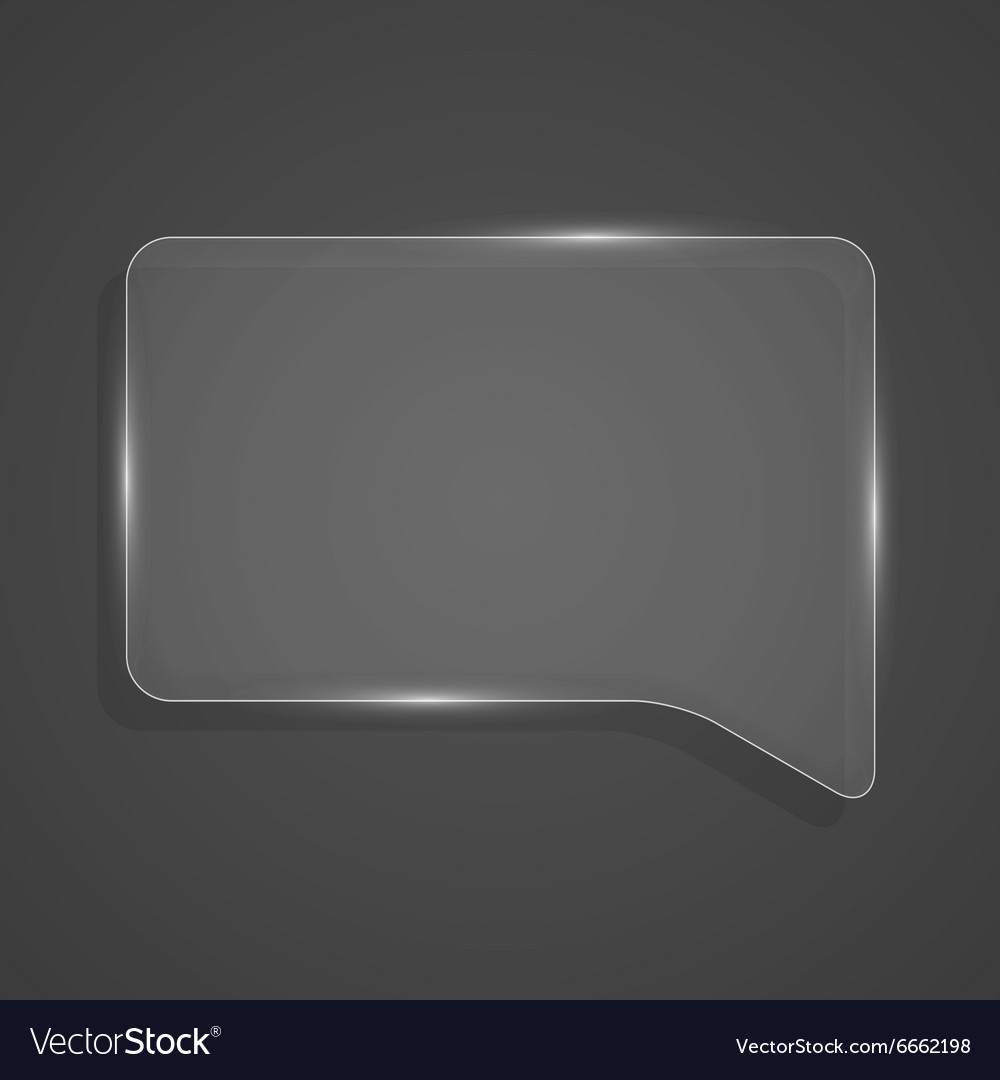 Abstract shiny glass banner Transparent chat box