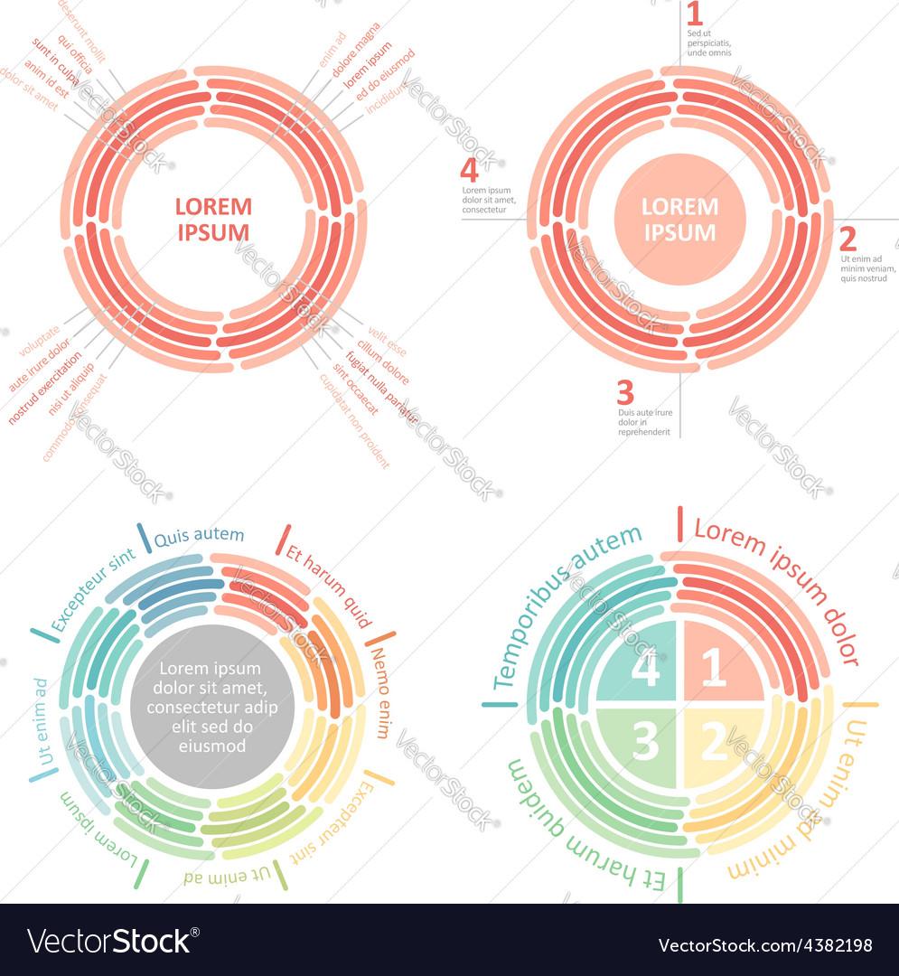 Circle infographics diagram