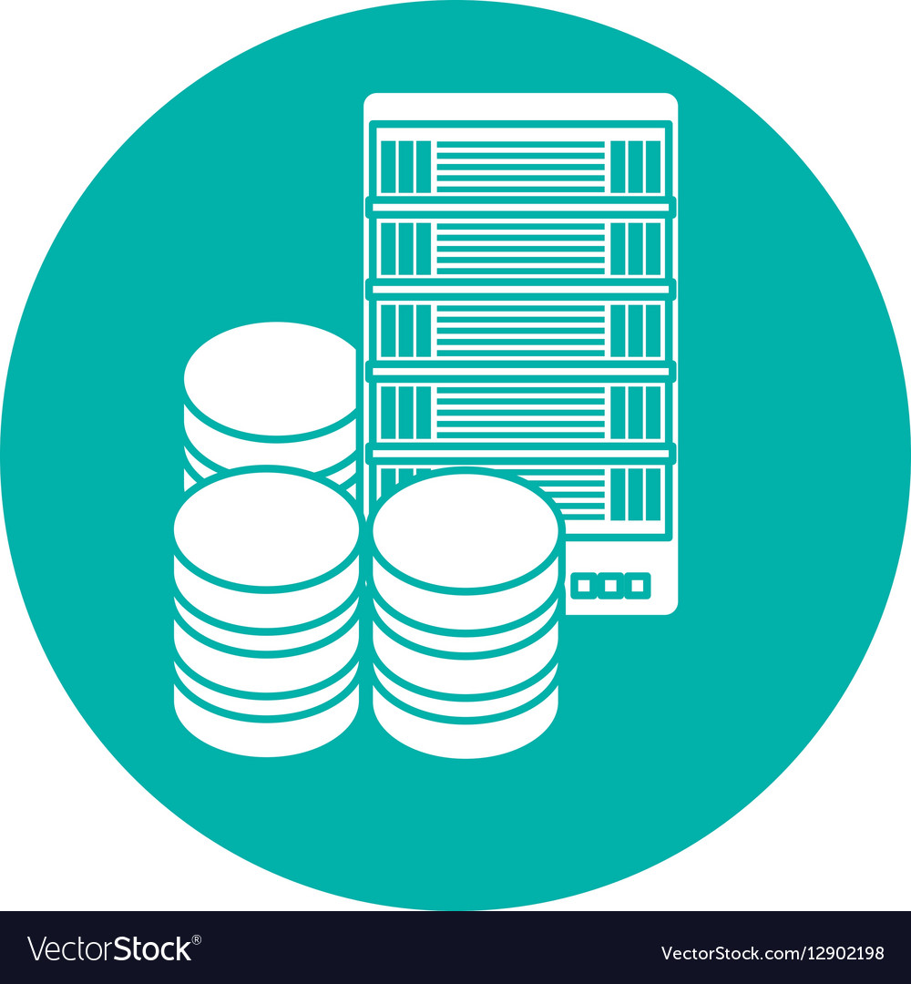 Data center storage two tone button icon image