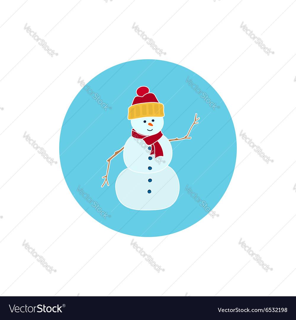 Icon Colorful Christmas Snowman