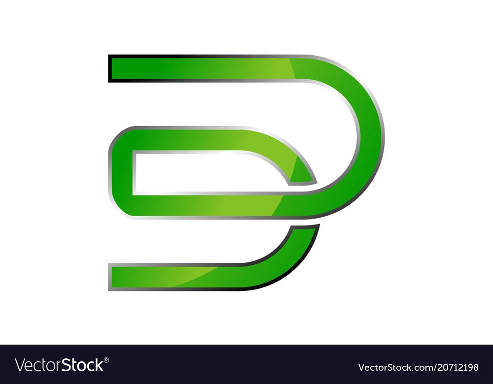 Letter dd logo design template Royalty Free Vector Image