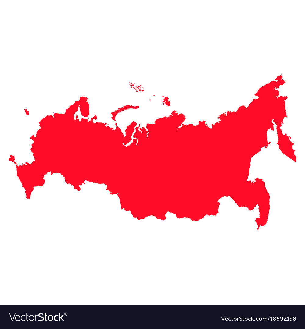 Map of russia with a red filling image Royalty Free Vector