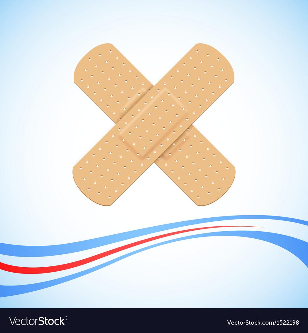 Medical Bandage Cross vector image