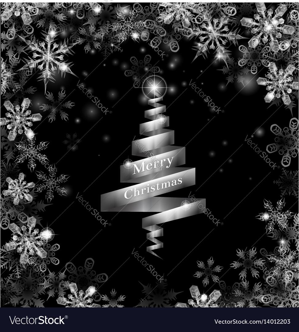 Abstract Silver Ribbon Christmas Tree Royalty Free Vector