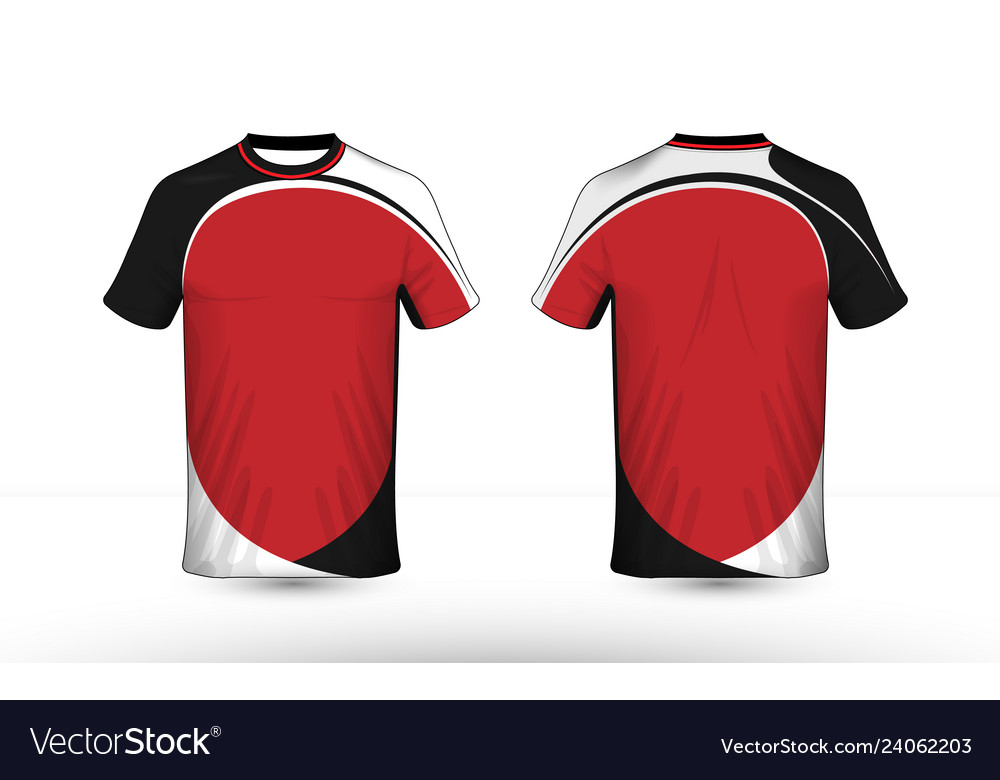 Black white and red layout e-sport t-shirt design