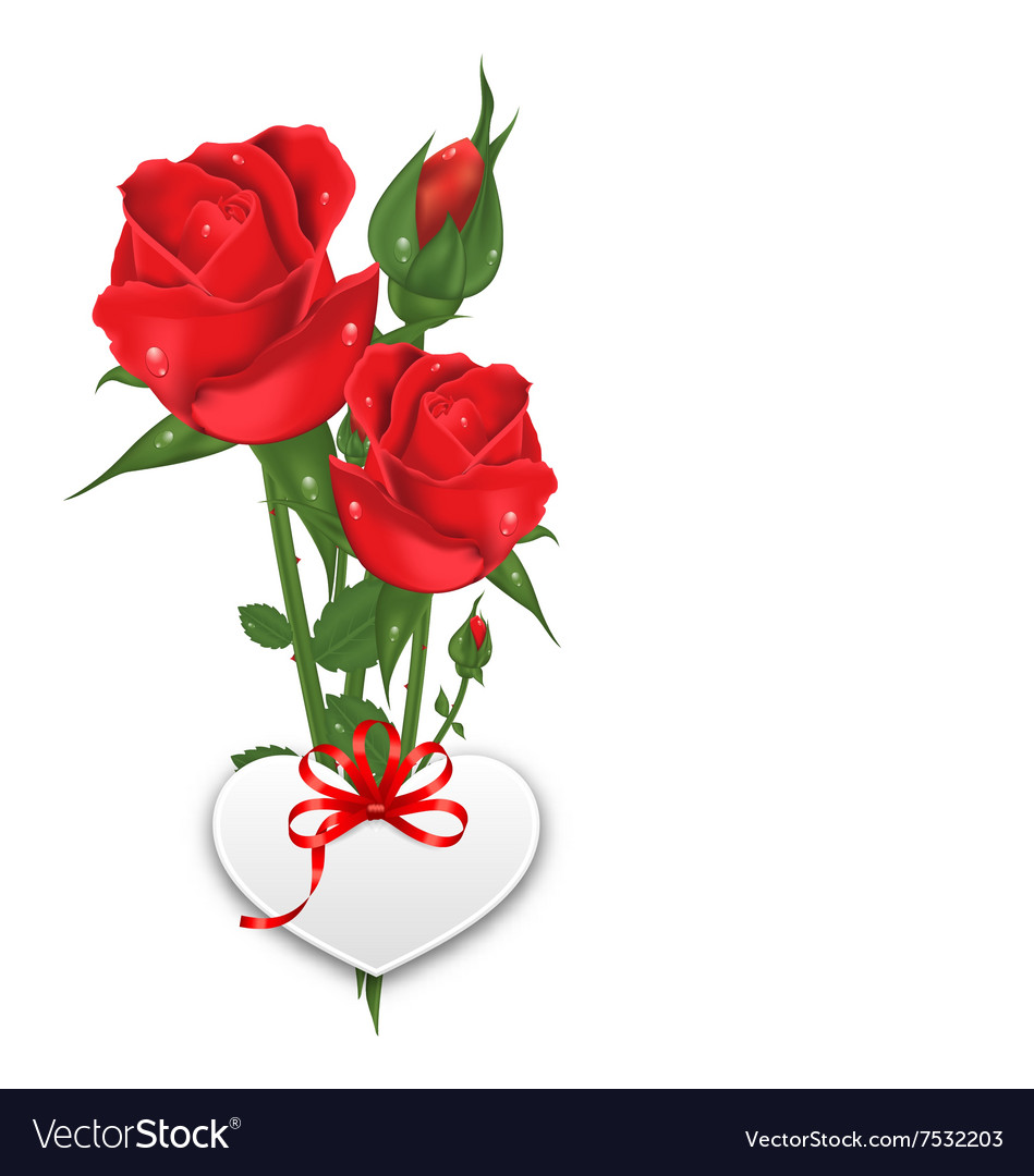 Bouquet beautiful flowers roses happy valentines vector image izmirmasajfo