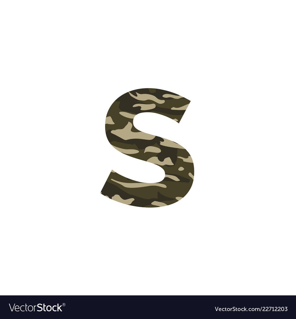 Camouflage logo letter s