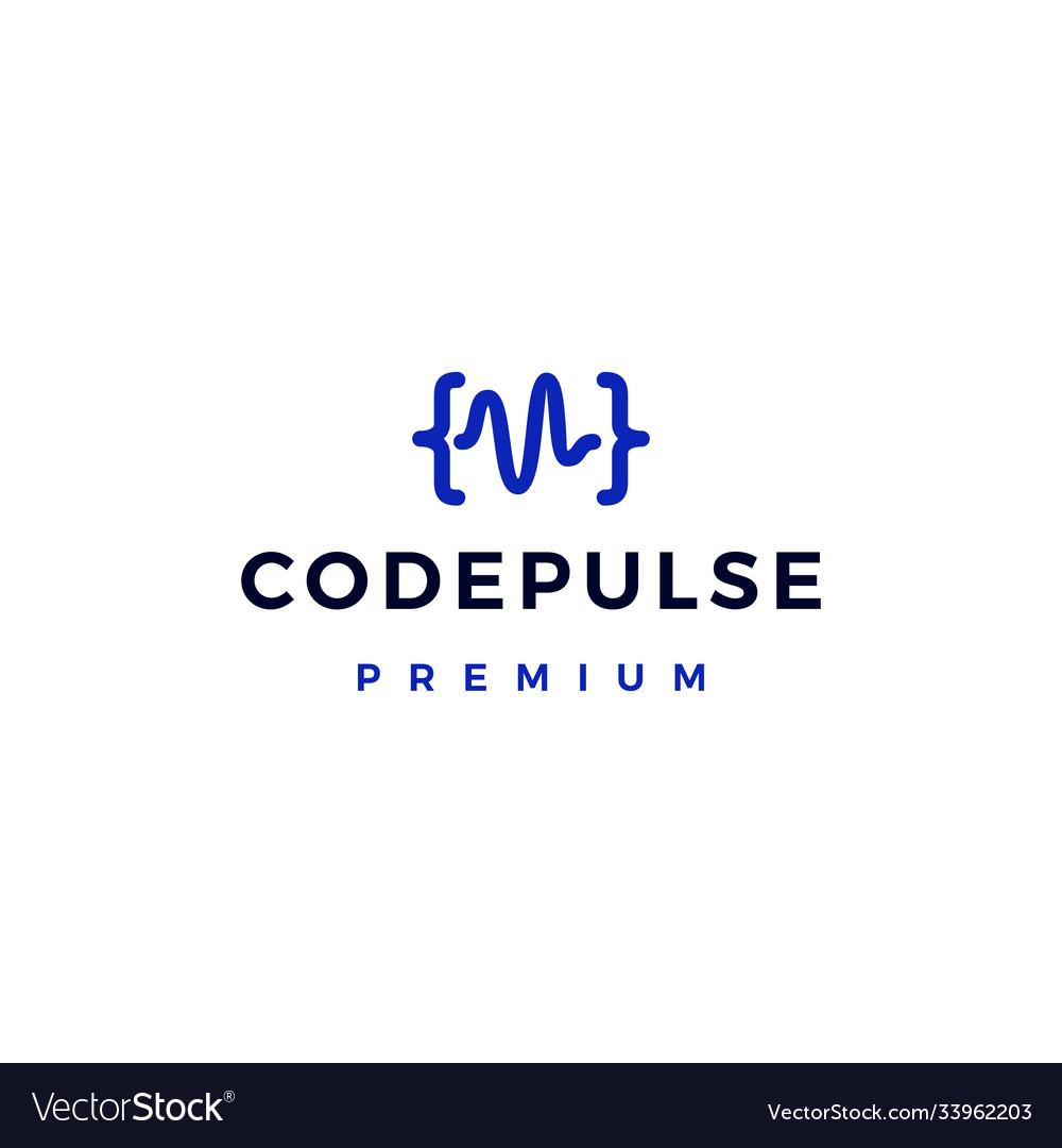 Code pulse logo icon