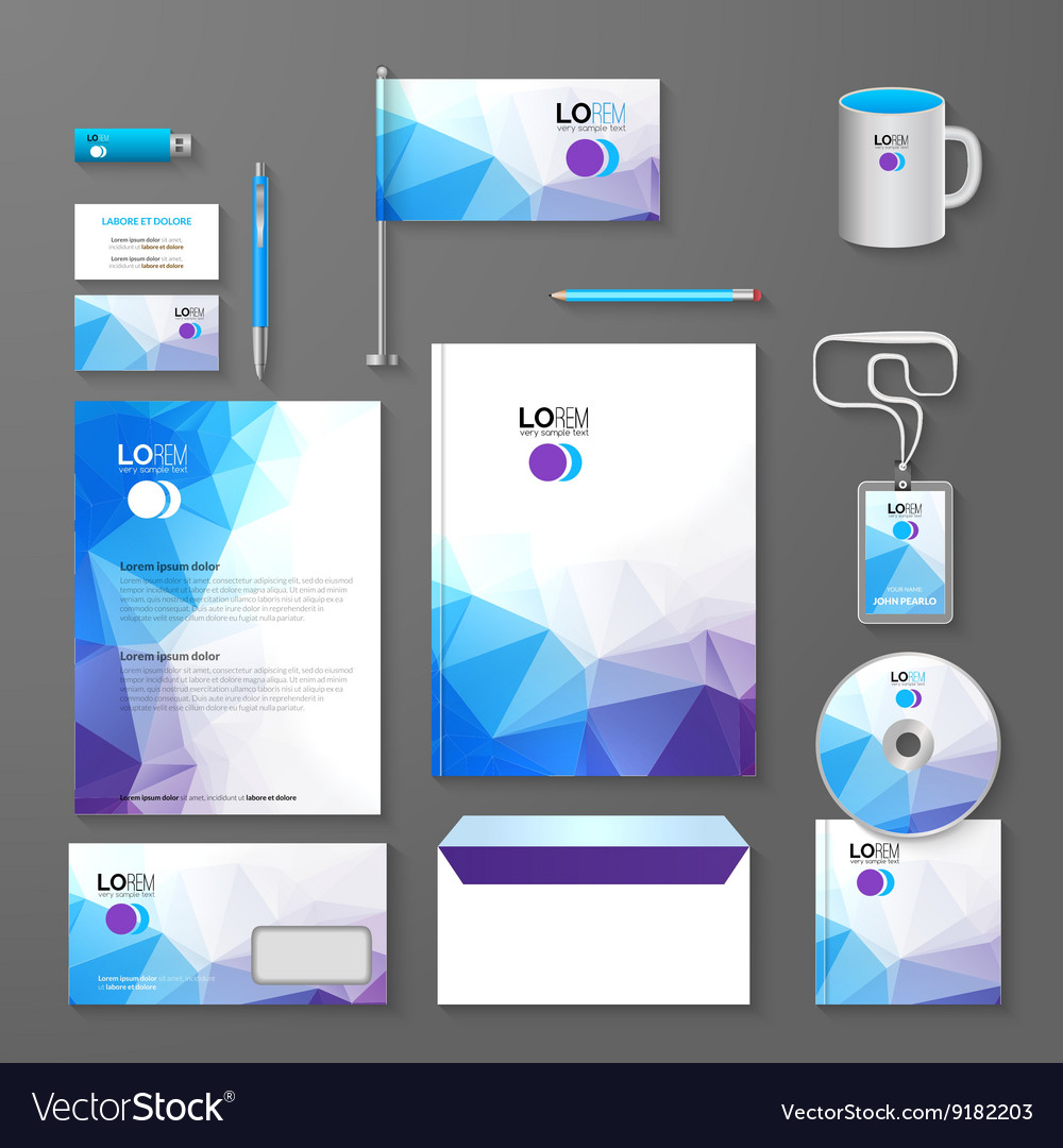 Corporate brand business identity design template vector image maxwellsz