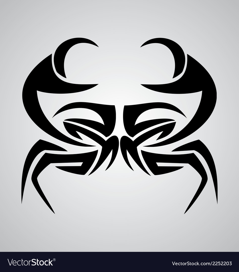 f47462d6e Crab Tribal Royalty Free Vector Image - VectorStock