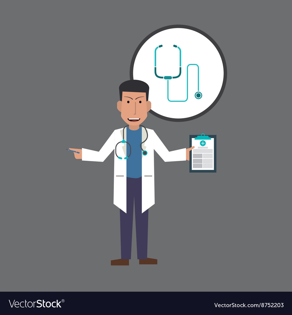 Doctor design Medical care concept Health care