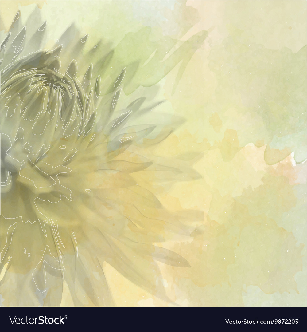 Flower Background On Soft Pastel Color In Blur Vector Image