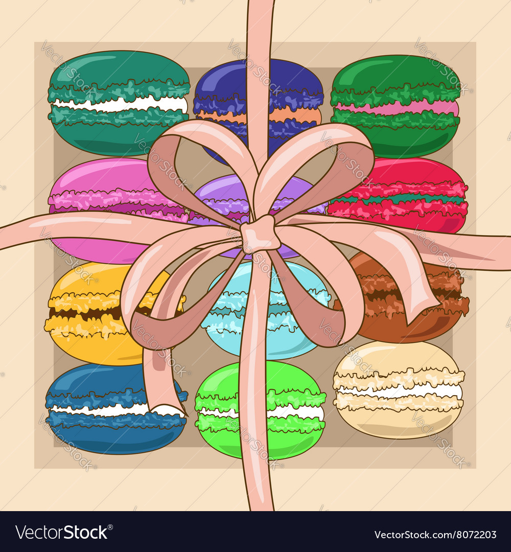 French macaroons in a gift box