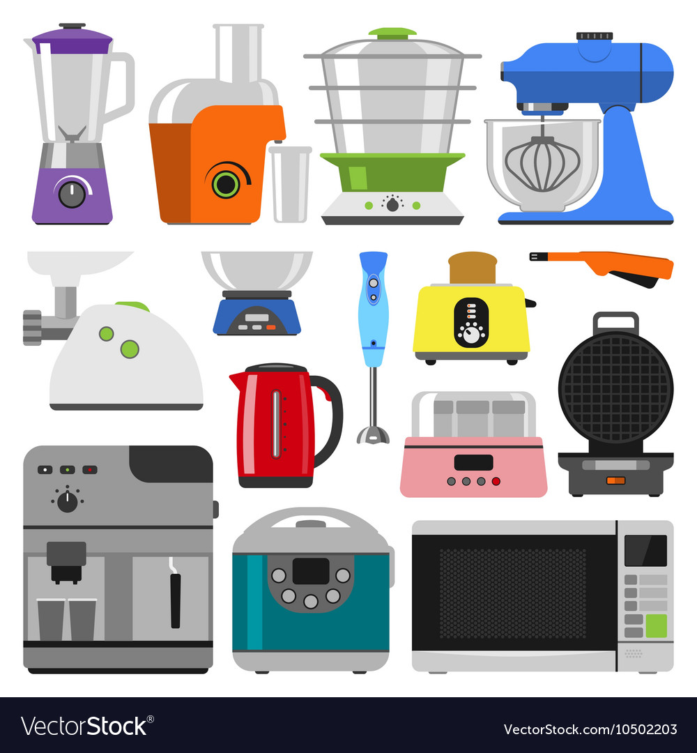 Kitchen appliances Royalty Free Vector Image - VectorStock