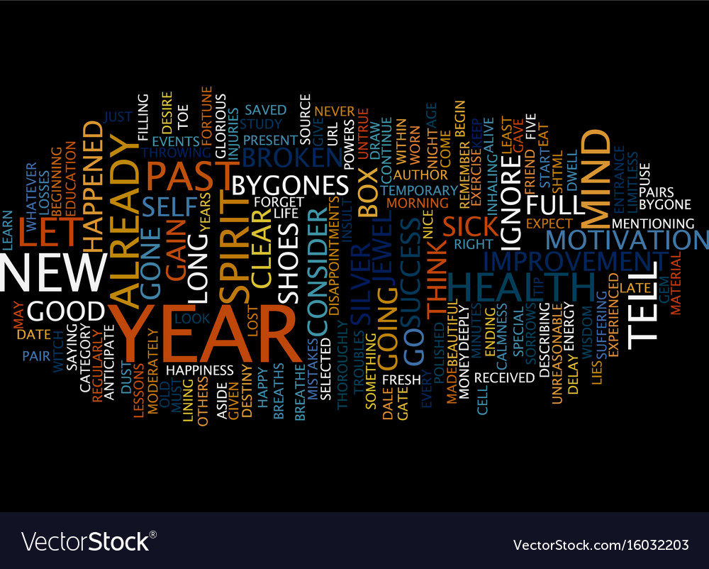 Let go of the past and look to the new year text