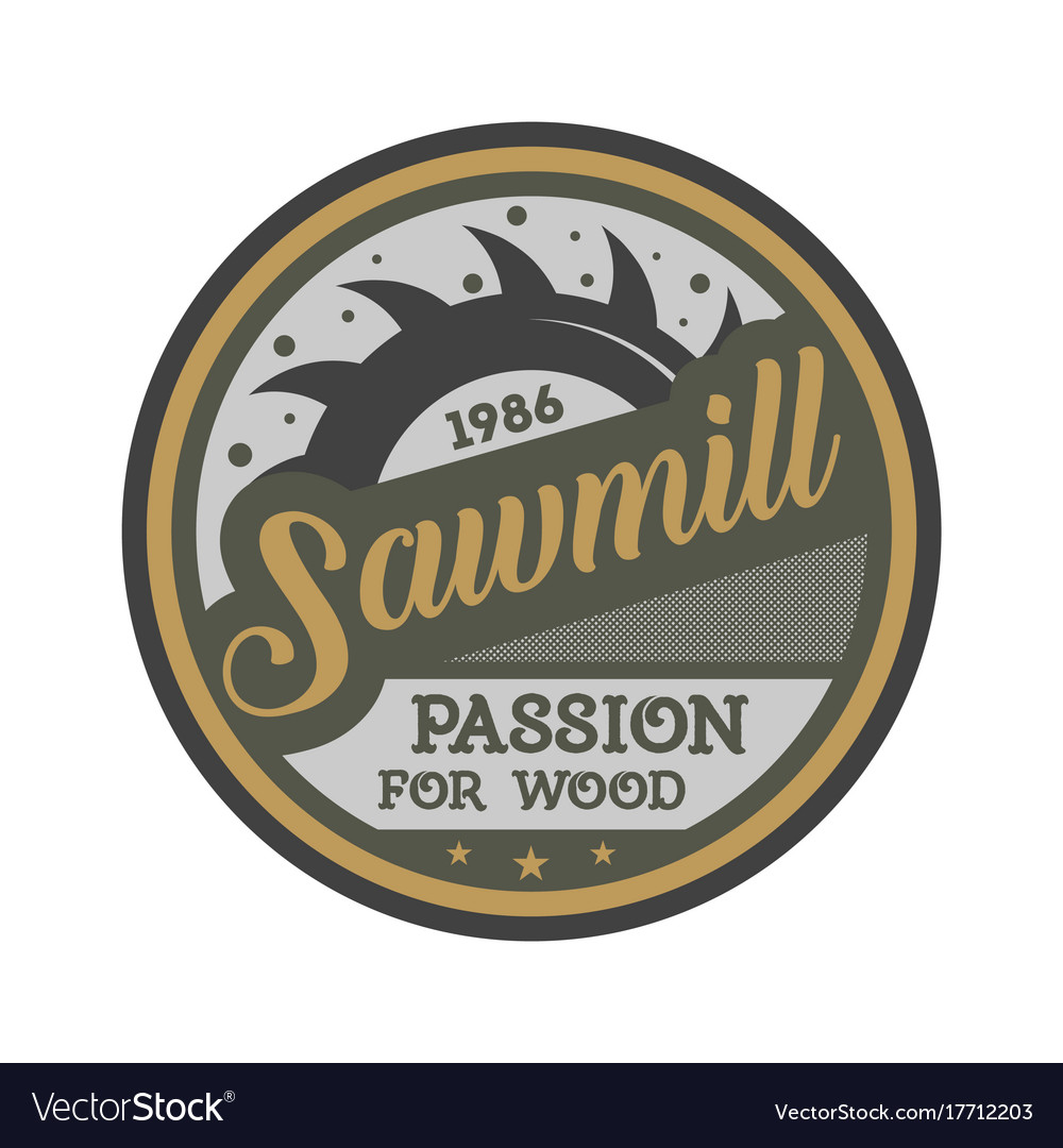 Sawmill business vintage isolated label