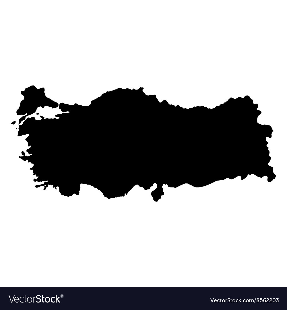Turkey map on a white background Royalty Free Vector Image