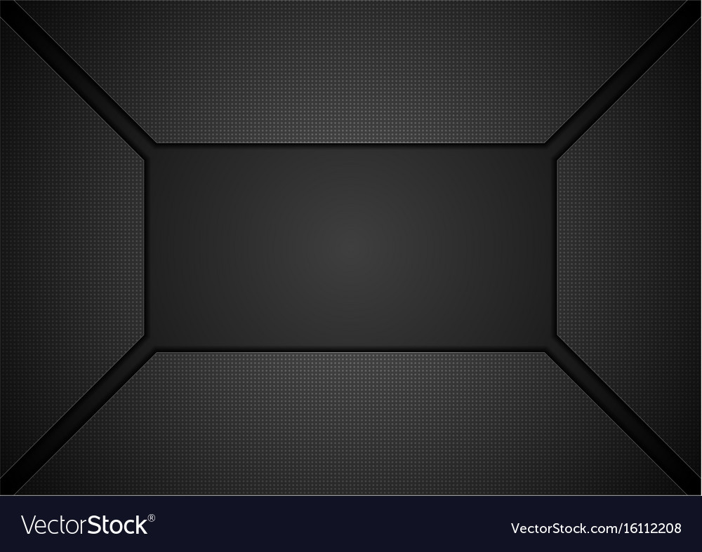 Black tech geometric concept abstract background vector image