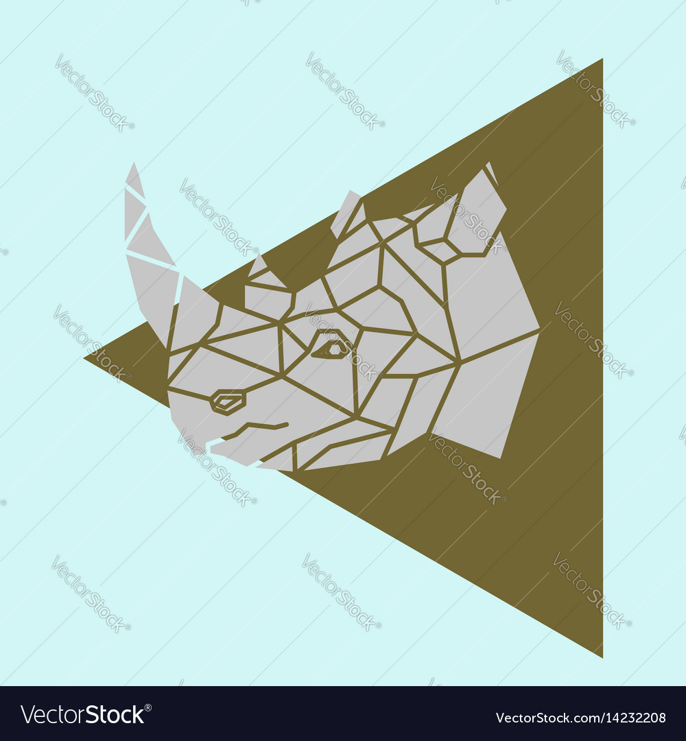 Rhino rhinoceros head geometric