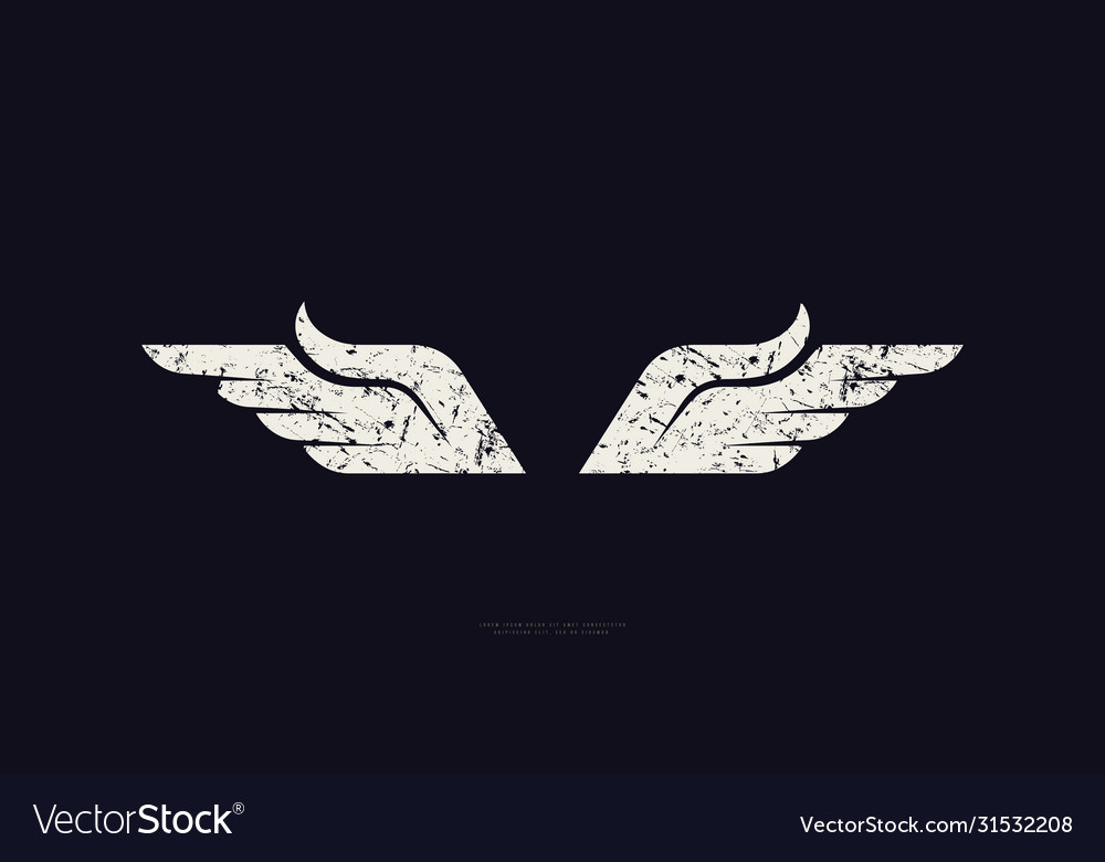 Stock wings silhouette