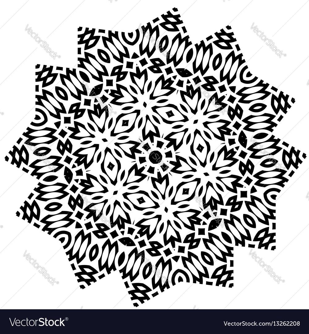 Stylized star flower mandala