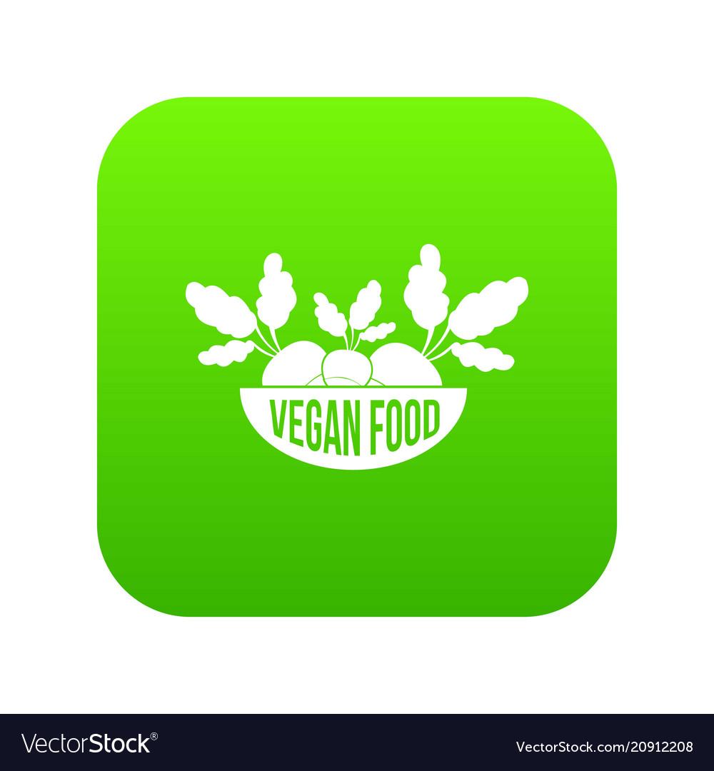 Vegan food icon green