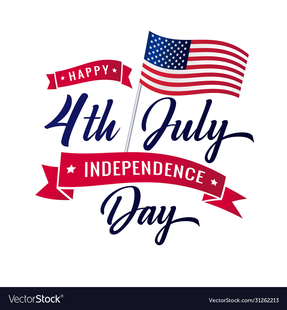 4th july independence day usa lettering