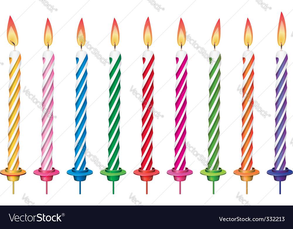 Birthday Candles Royalty Free Vector Image Vectorstock