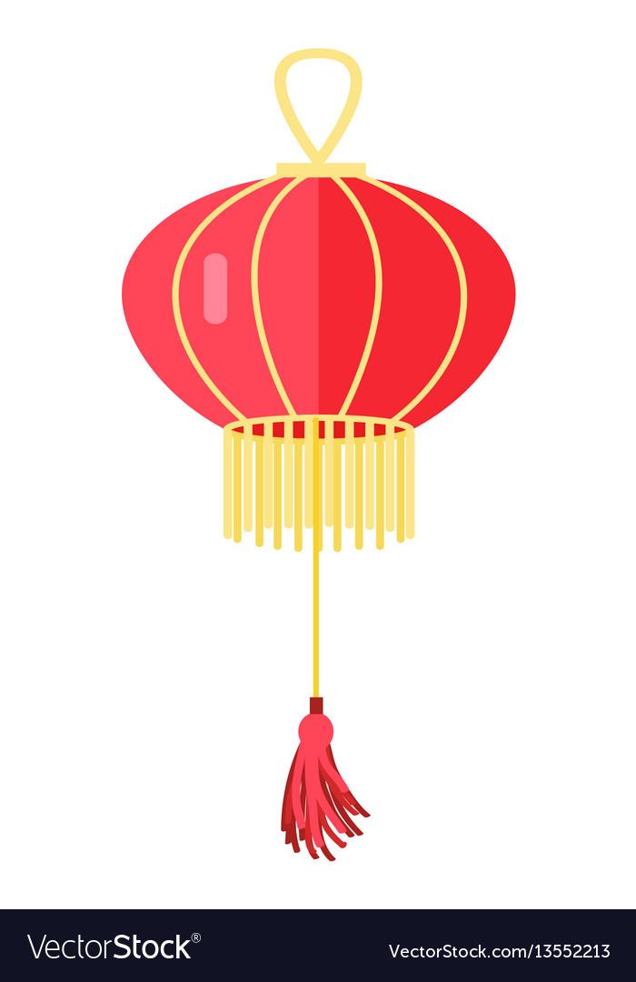Chinese round red lamp ball oriental lantern
