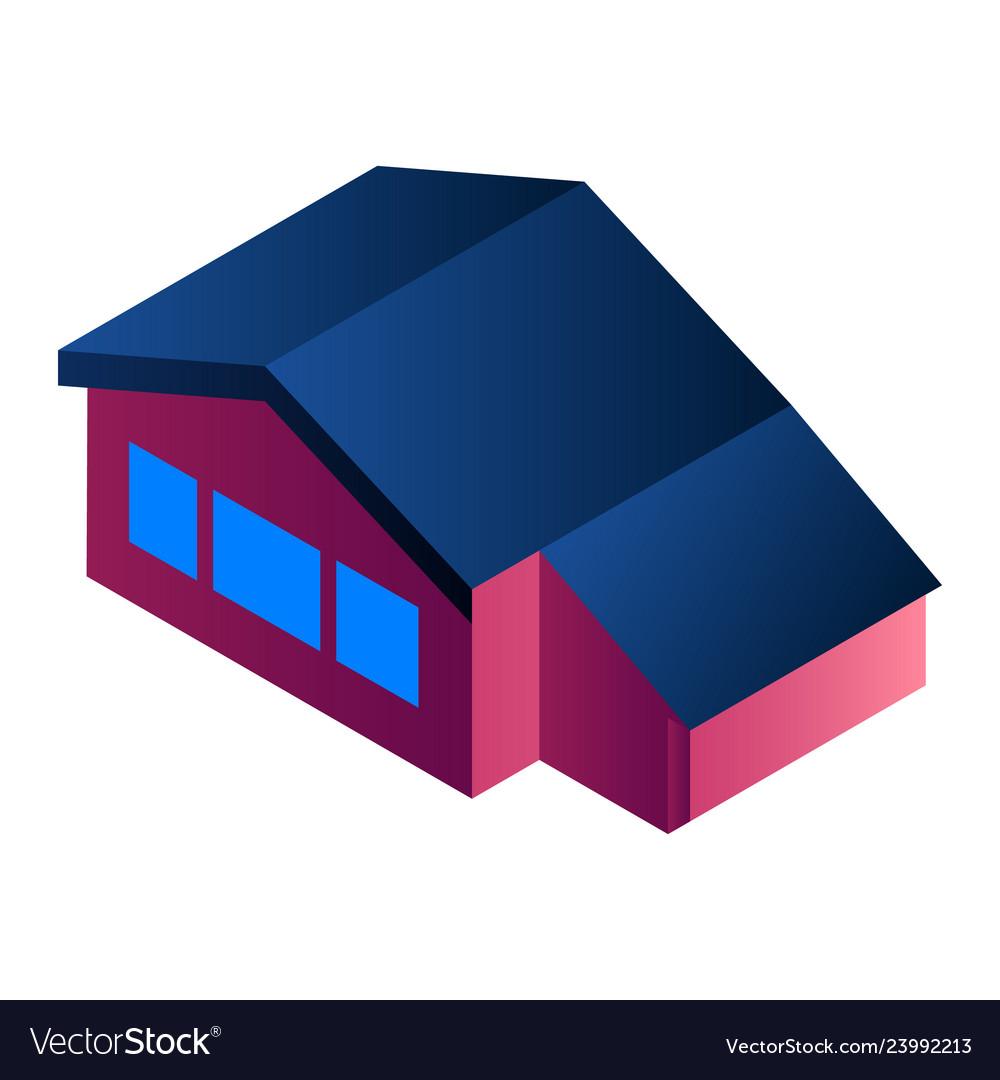 City house icon isometric style