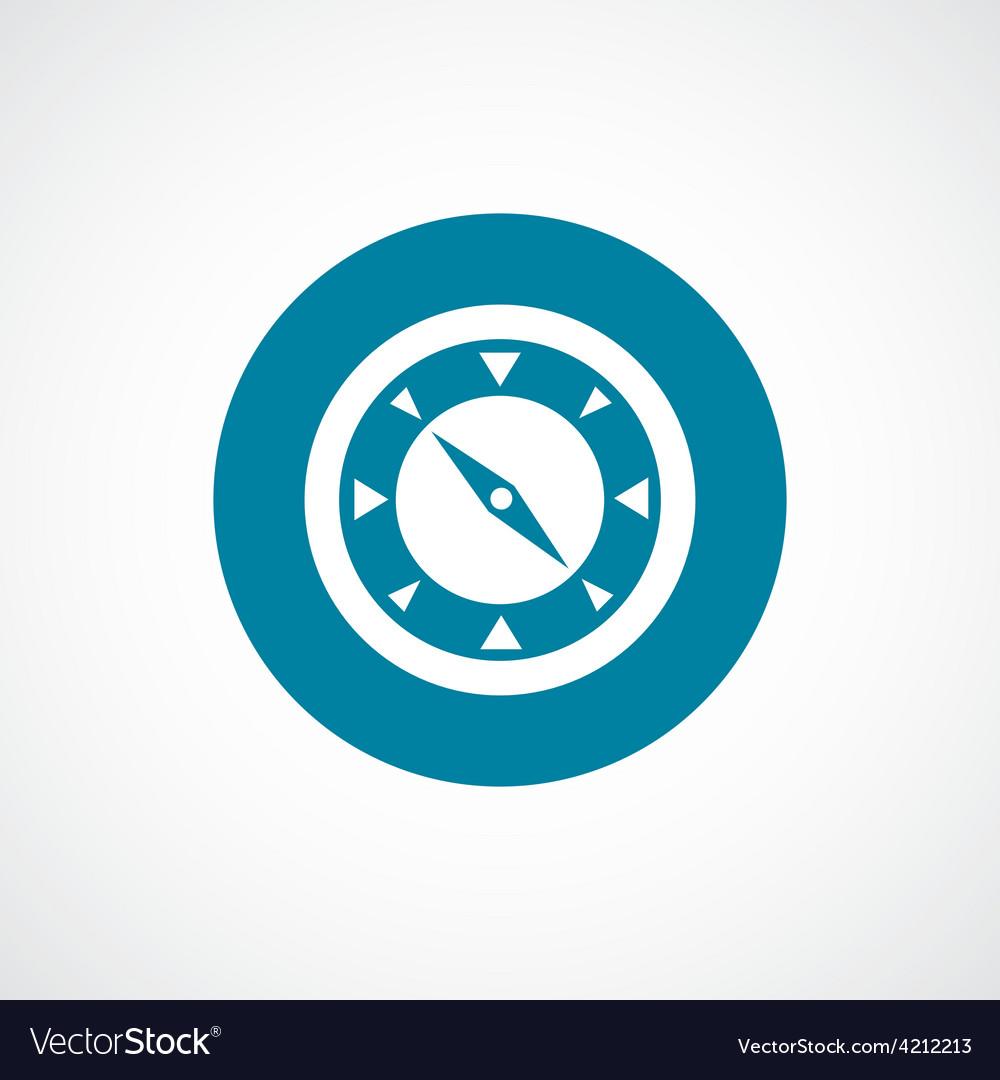 Compass icon bold blue circle border