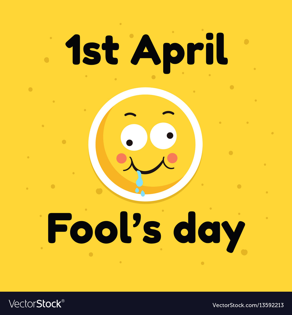 Fool day april holiday greeting card banner comic