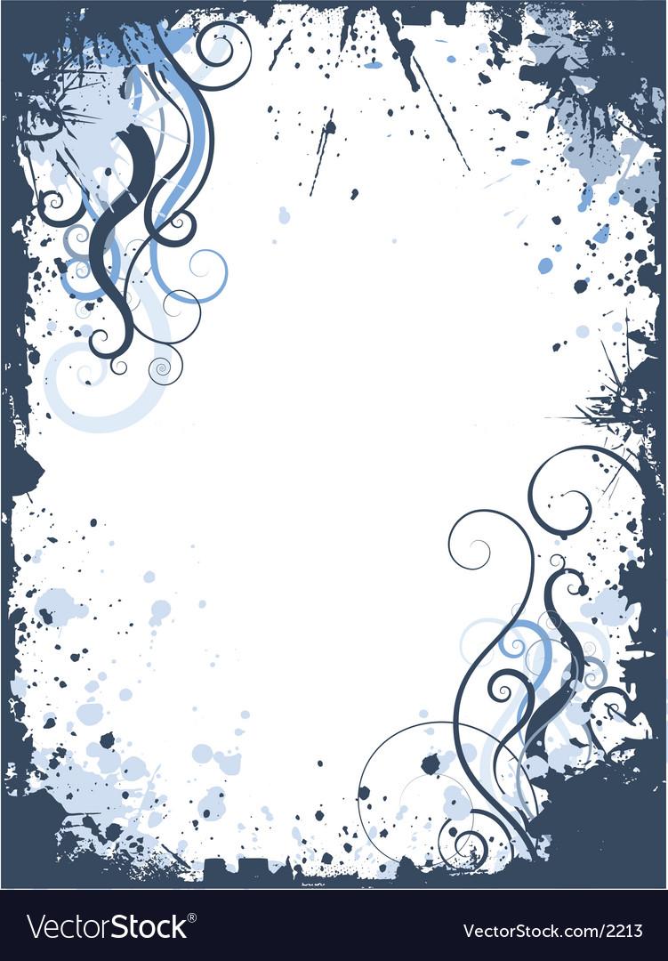 Grunge swirls border vector image