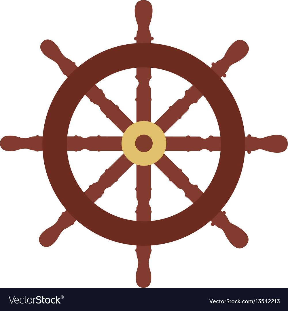 Isolated rudder icon vector image