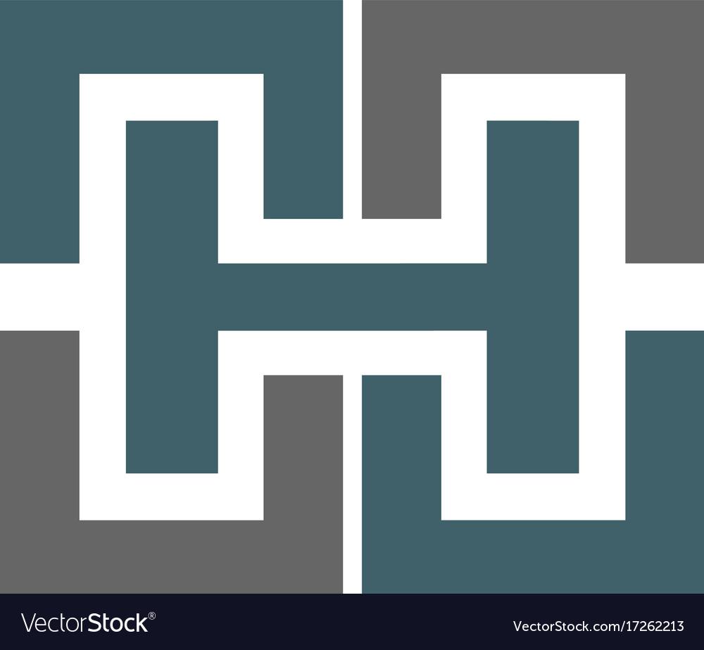 Letter h logo icon design sign vector image