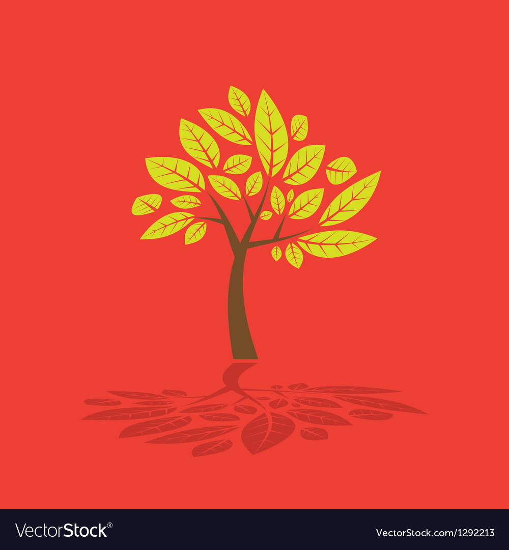 Tree and leaf graphic
