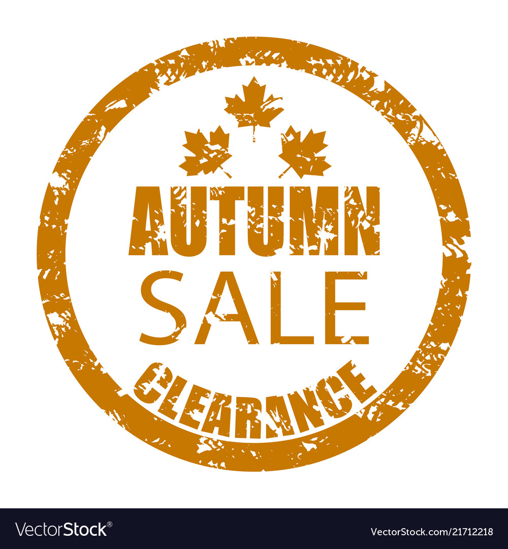 Autumn sale clearance rubber stamp isolated on