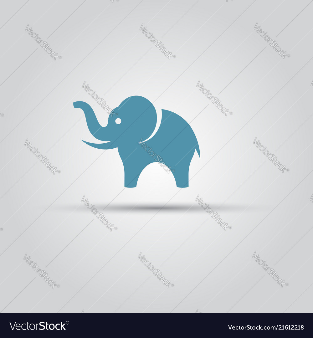 Elephant isolated colored symbol icon