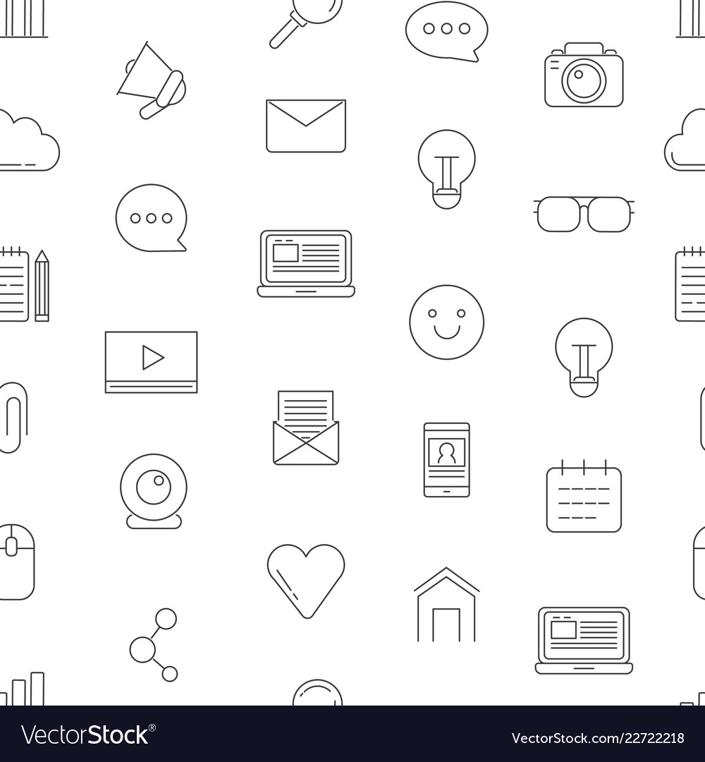 Line blog icons pattern or background