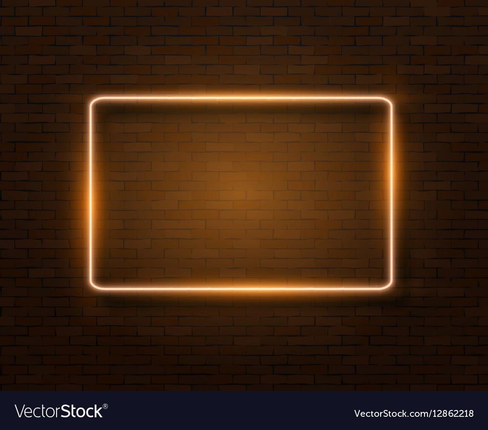 Neon Frame Vintage Bar Sign Icon vector image