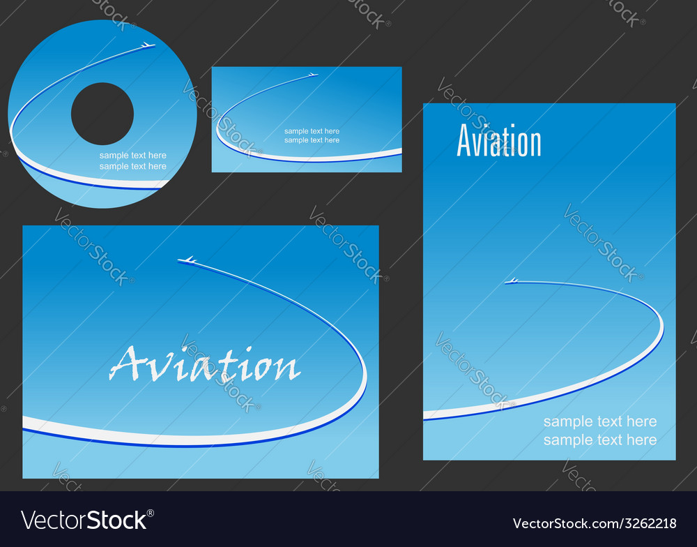 Template elements for Aviation design vector image