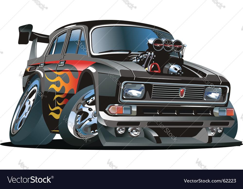 cartoon hot rod royalty free vector image vectorstock rh vectorstock com cartoon hot rod ford cartoon hot rod pics