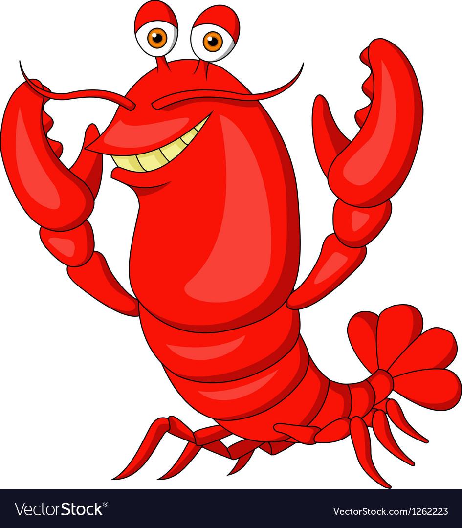 cute lobster cartoon royalty free vector image rh vectorstock com cartoon lobsters names cartoon lobster pictures
