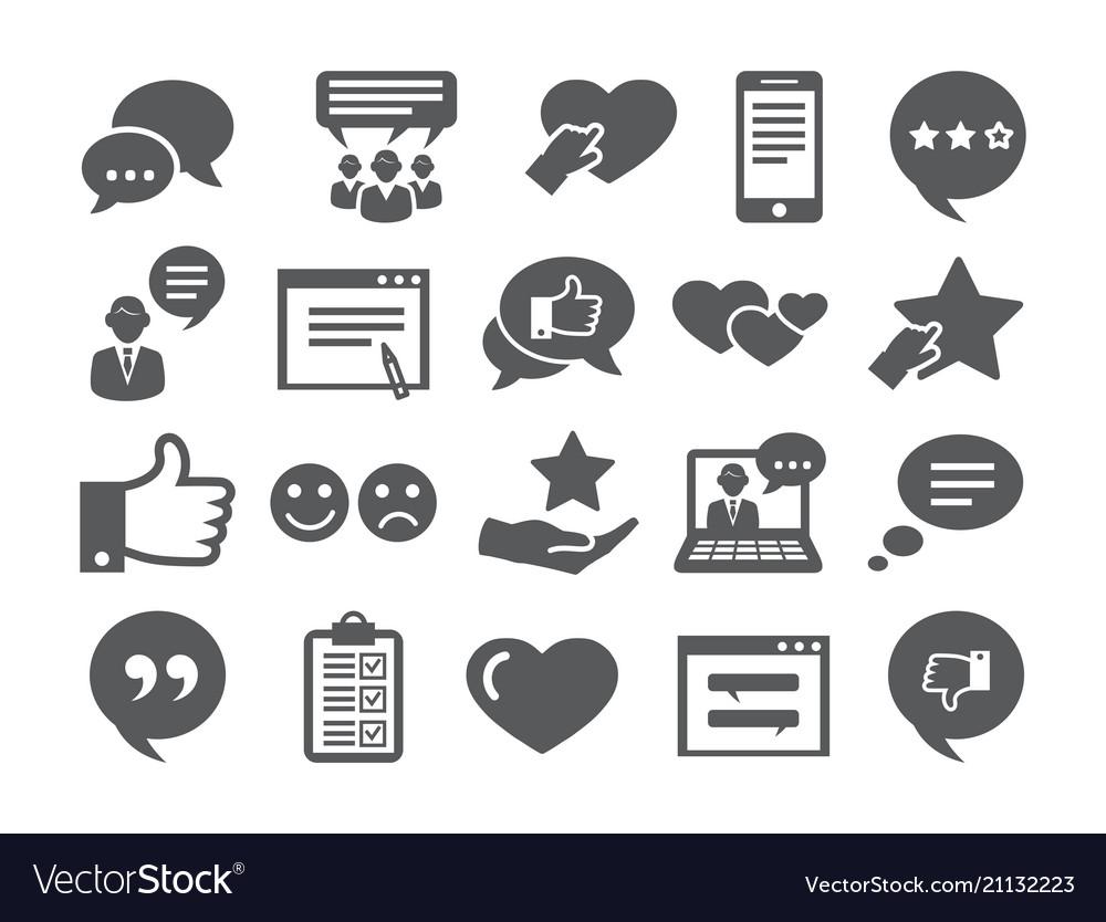 Feedback icons set