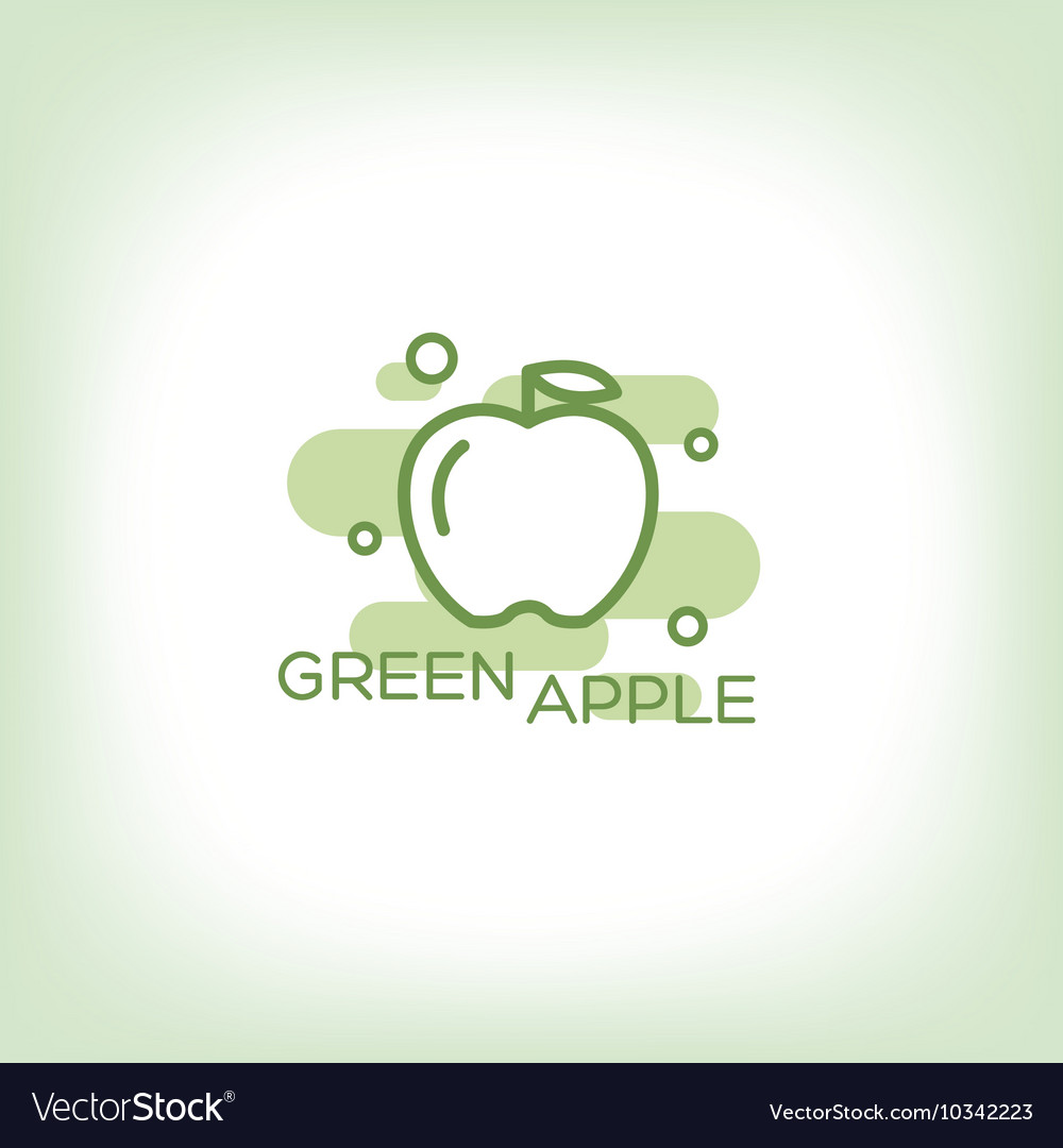 Green apple - logo