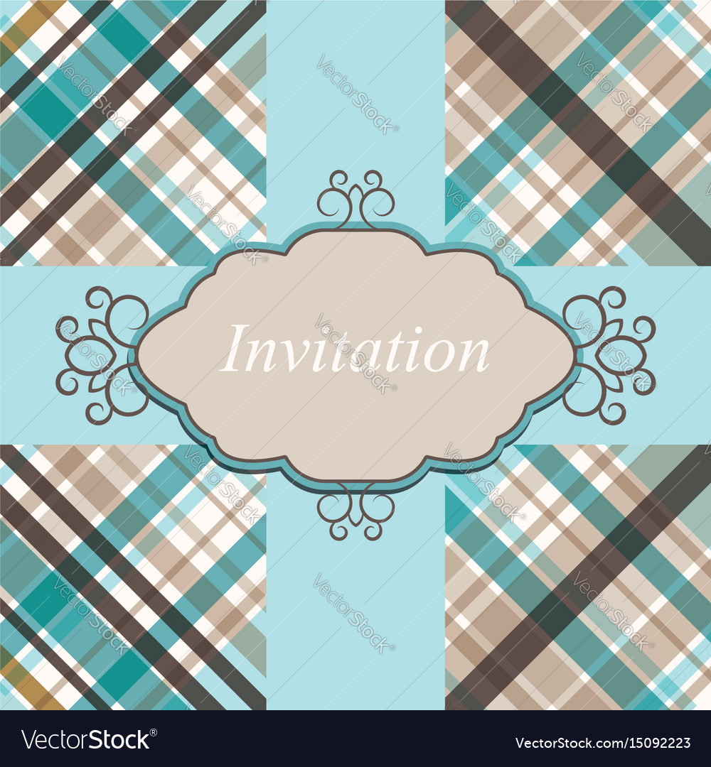 Invitation card retro vector image